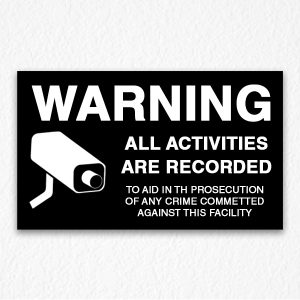 All Activities Recorded Sign in Black