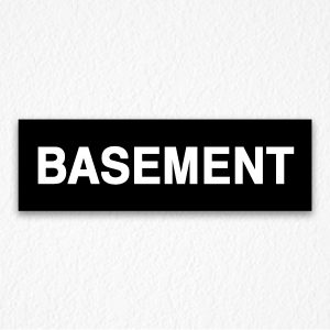 Basement Signs in Black