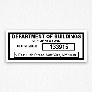 Department of Building Sign in Black Text