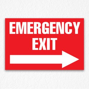 Emergency Exit Sign in Red