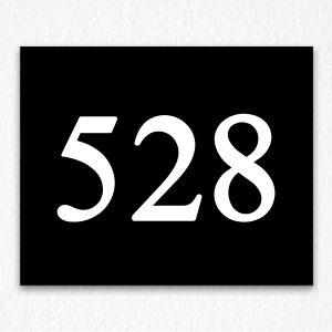 Floor Number Sign in Black