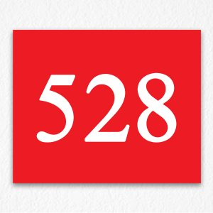 Floor Number Sign in Red