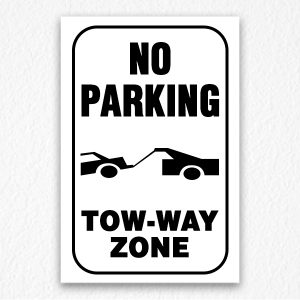 Two-way Zone Sign in Black Text