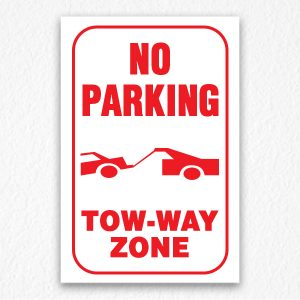 Two-way Zone Sign in Red Text