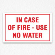 Use No Water Sign in Red Text
