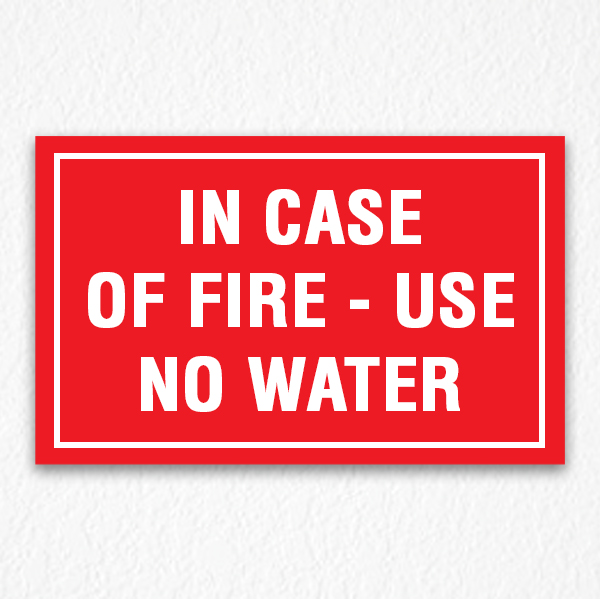 Use No Water Sign in Red