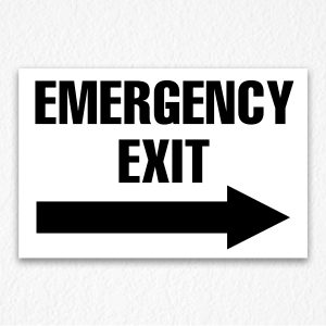 Emergency Exit Only Sign Black Text