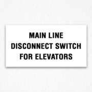 Main Line Disconnect Switch Black Text