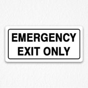 Emergency Exit Red Sign Black Text