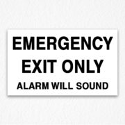 Emergency Exit Sign Black Text