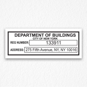 Department of Buildings Signs NYC