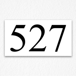 524 Room Number Sign in Black Text