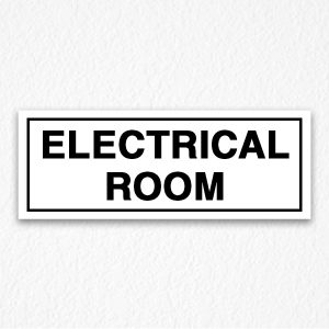 Electrical Room Sign in Black Text