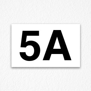 5A Apartment Number Sign
