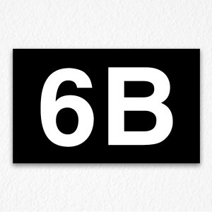 6B Room Number Sign in Black