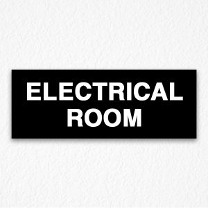 Building Electrical Room Sign in Black