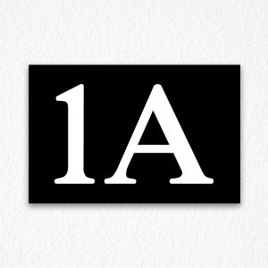 1A Floor Number Sign in Black