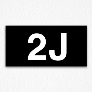 2J Room Number Sign in Black