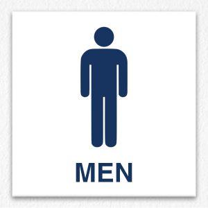 Men Only Sign in Blue