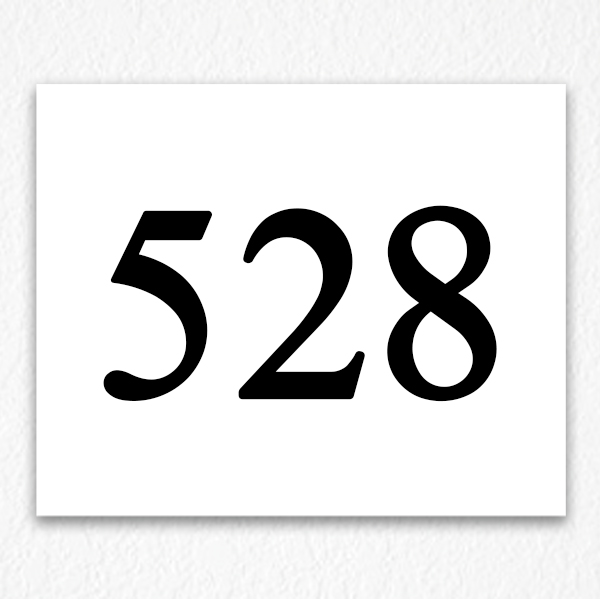 528 Apartment Number Sign