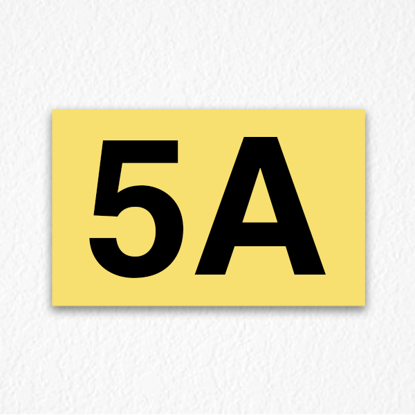 5a Apartment Number Sign In Yellow